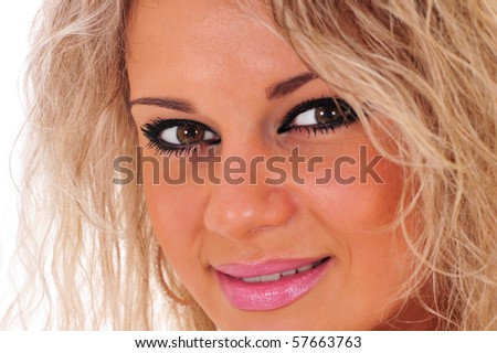 Close-up of a beautiful woman smiling