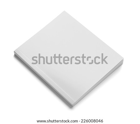 close up of a  blank white  book on white background - stock photo