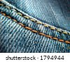 Close-up of a blue jeans. - stock photo