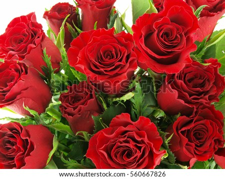 close up of a bouquet of roses as a background image