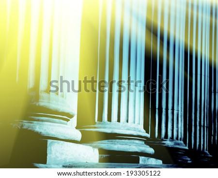 Close-up of a bright classical pillar - stock photo