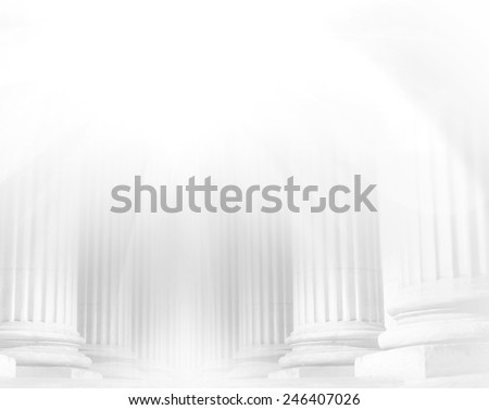 Close-up of a bright classical pillar - stock photo