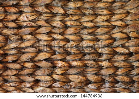 Close-up of a Brown Woven Basket - stock photo