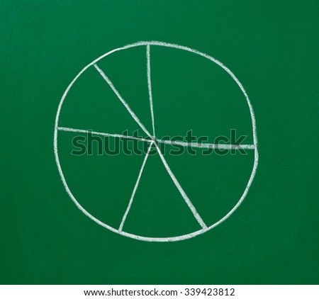 close up of a business finance graph on a chalkboard - stock photo