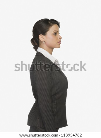 Close-up of a businesswoman