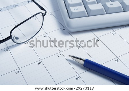 close up of a calendar - stock photo
