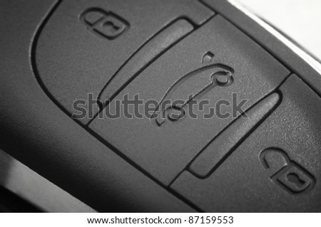 close up of a car remote control device - stock photo