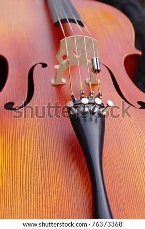 Close up of a cello - stock photo