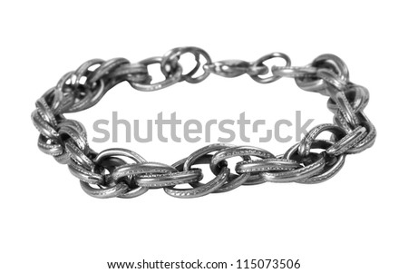 Close-up of a chain bracelet