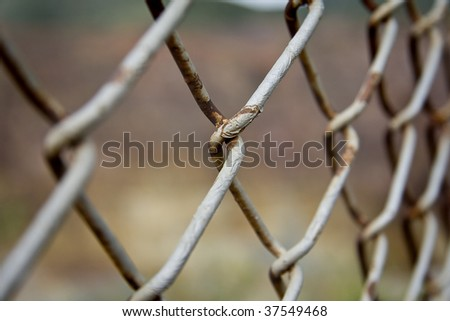 Close up of a chain link fence - stock photo