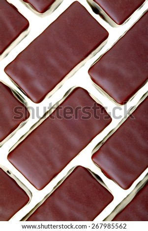 Close up of a chocolates cream-filled isolated on white background - stock photo