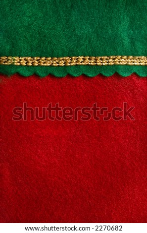 Close-up of a Christmas stocking. - stock photo