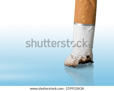 Close-up of a cigarette - stock photo