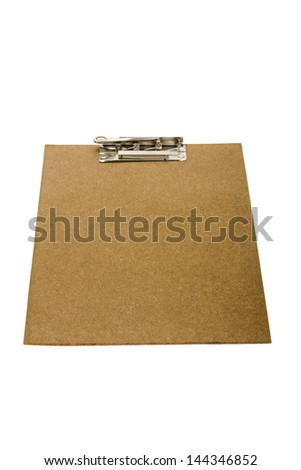 Close-up of a clipboard