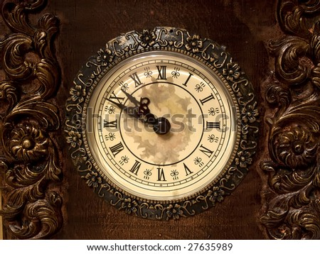Close-up of a clock dial