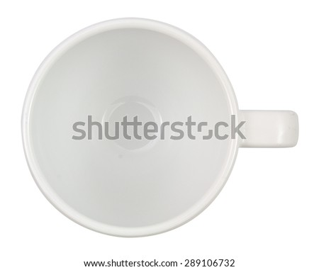 close up of a coffee Mug top on white background