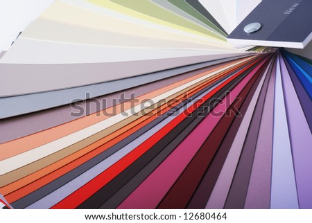 Close up of a color swatch. - stock photo