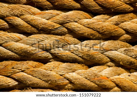Close-up of a colored ship rope