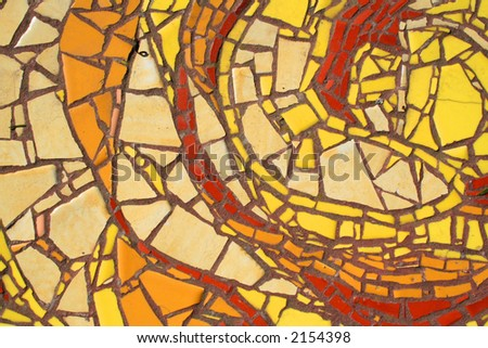 Close-up of a colorful tile mosaic. - stock photo