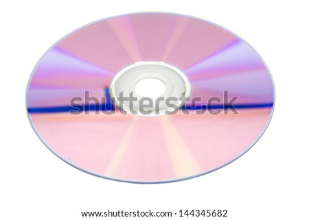 Close-up of a compact disc - stock photo