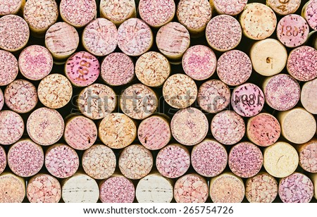 Close up of a cork wine background. Colored natural variation - stock photo