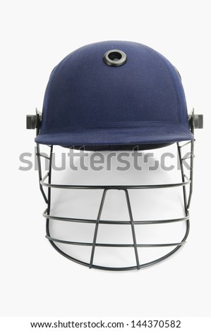 Close-up of a cricket helmet - stock photo