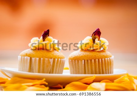 Close-up of a delicious cupcakes