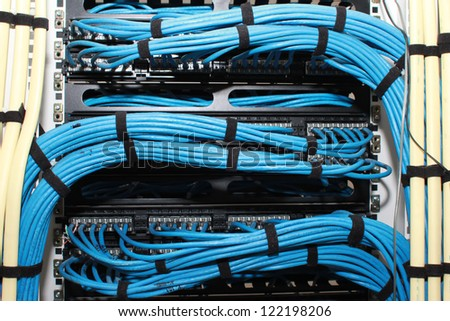 Close Up Of a Electrical Cable - stock photo