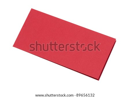 close up of a folded card on white background - stock photo