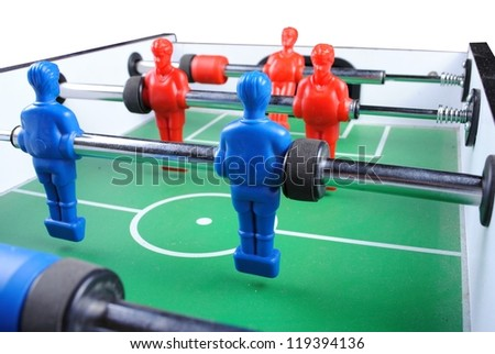 close up of a foosball, isolate on white background - stock photo