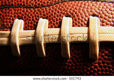 Close up of a football. - stock photo