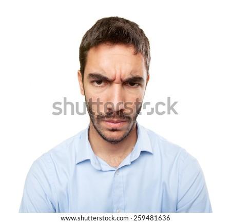 Close up of a furious young man - stock photo