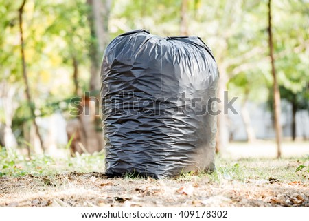 close up of a garbage bag  - stock photo