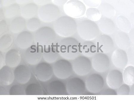 CLose up of a Golf Ball - stock photo