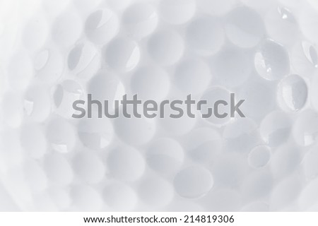 CLose up of a Golf Ball texture by macro lence and special tube - stock photo