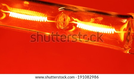 Close up of a Halogen Bulb - stock photo