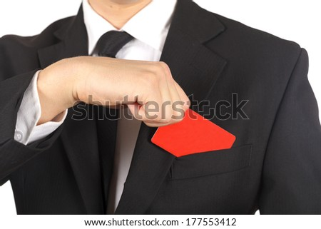 Close up of a hand taking out a credit card - stock photo
