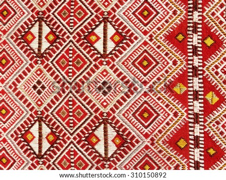 Close Up Of A Hanged Colourful Handmade Traditional Wool Rug   Abstract  Background 4