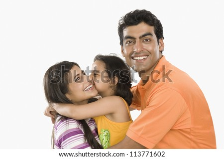 Close-up of a happy family - stock photo