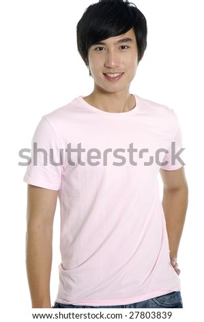 Close up of a happy young - stock photo