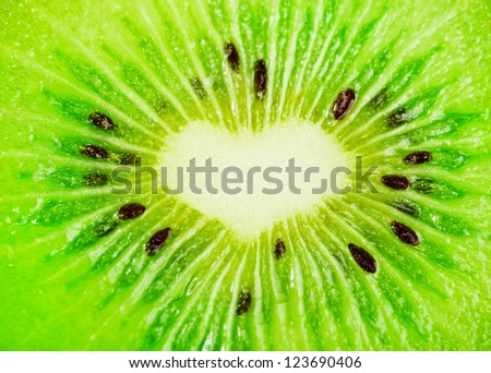 close up of a healthy kiwi fruit