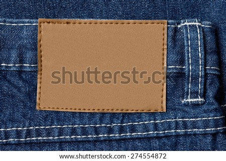 close up of a jeans label
