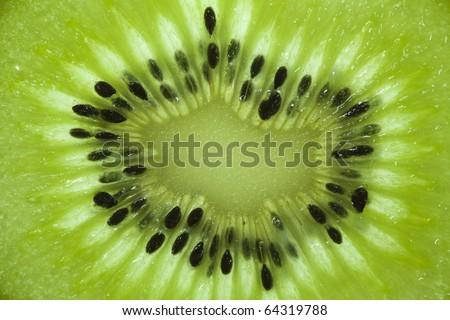 Close up of a kiwi - stock photo
