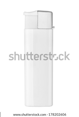 close up of  a lighter on white background - stock photo