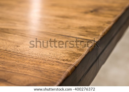 Close-up of a luxurious table, vintage solid wood furniture detail