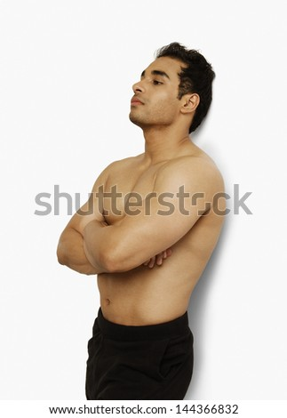 Close-up of a man posing - stock photo