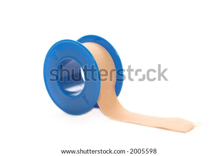 Close up of a medical bandaid role - stock photo