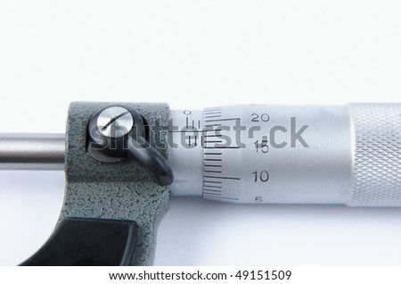 Close up of a micrometer tool - stock photo