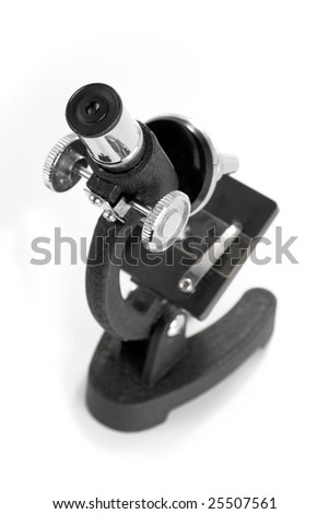 Close-up of a microscope, selective focus