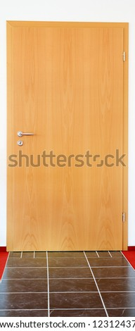 Close up of a modrn living room door - stock photo